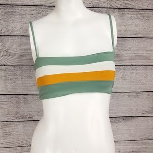 NEW L*Space S Rebel Stripe Reversible Bikini Top